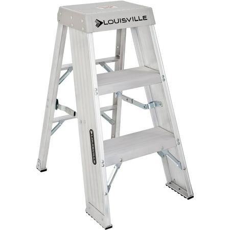 Louisville Ladder Ay8003 3 Ft Aluminum Step Stool Type Ia 300 Lbs Load