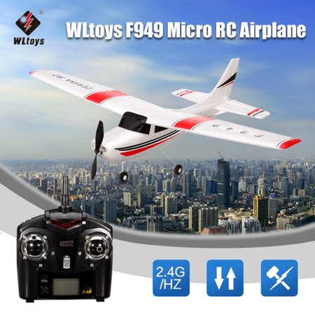 Original Wltoys F949 2.4G 3CH RC Remote Control Airplane with Transmitter,Fixed Wing RC Airplane Plane Toys Gift,Outdoor Flying,for Adult & Children Kid