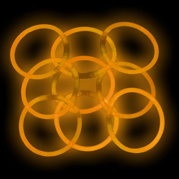 """Lumistick 8"""" Glow Stick Bracelets, Orange, 1000 ct"""