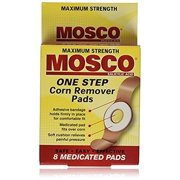 MOSCO One Step Corn Remover Pads, Max Strength, 8 Medicated Pads 2 Pack