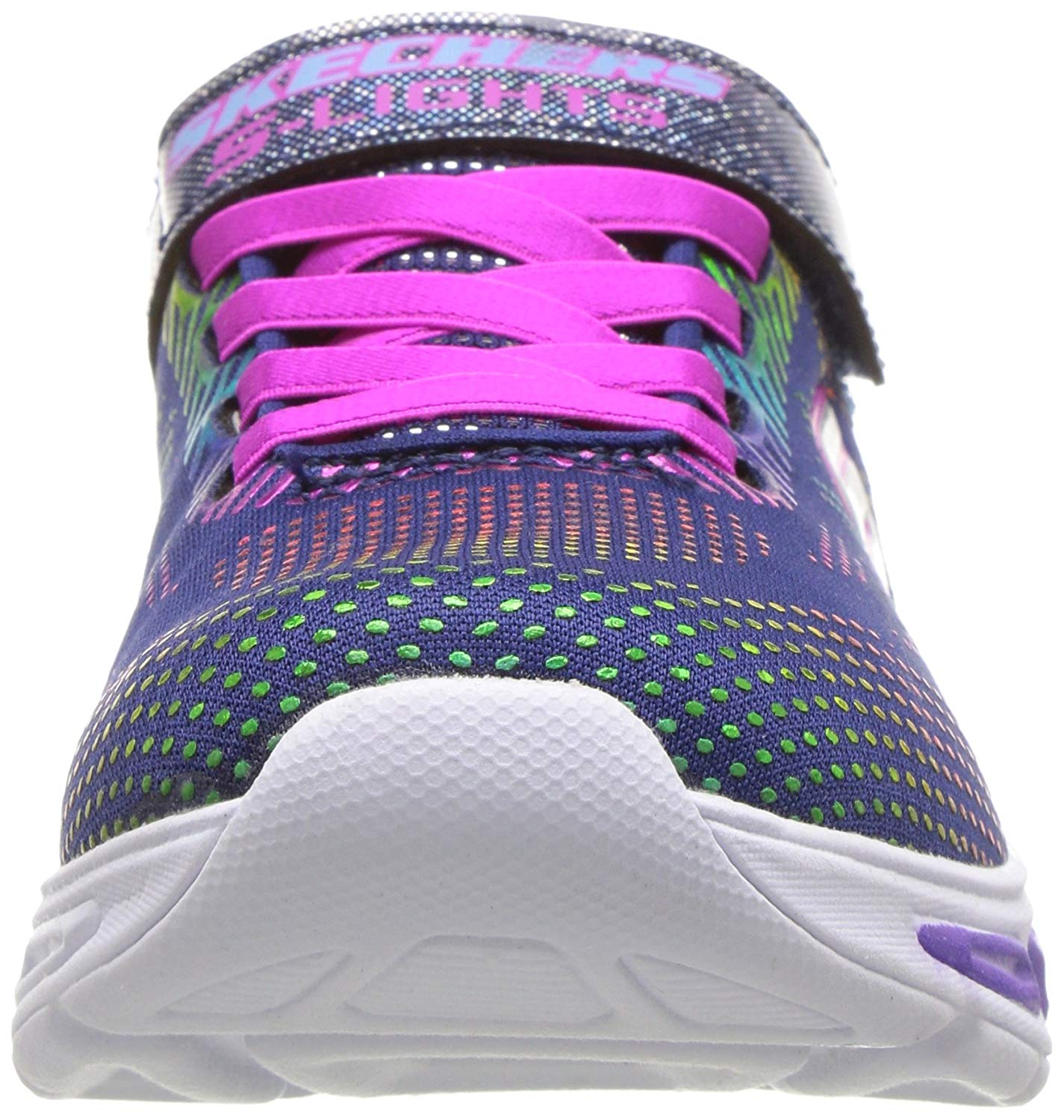 Skechers Kids Girls Navy Gleam N Dream Light Up Trainers