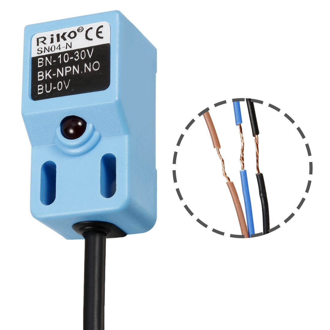12m Cable Sn04 N 4mm Proximity Sensor Switch Detector Npn No Dc 3 3wire In This Case You Would Just Connect The Brown Wire 10 30v