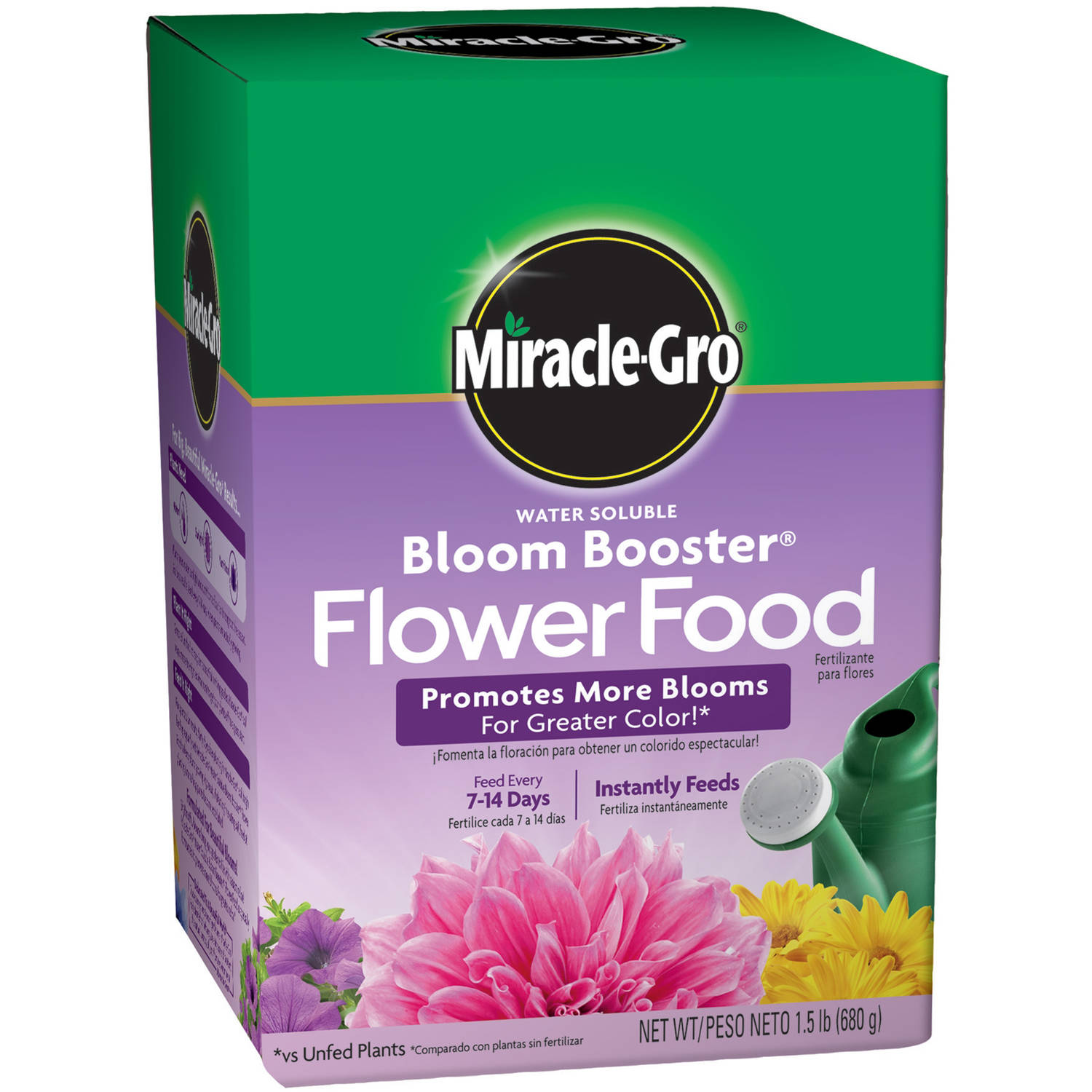 Miracle-Gro Water Soluble Bloom Booster Flower Food, 1.5 lbs