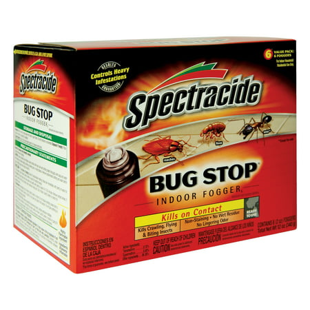 Spectracide Bug Stop Indoor Fogger, 6 count, 2oz, Controls