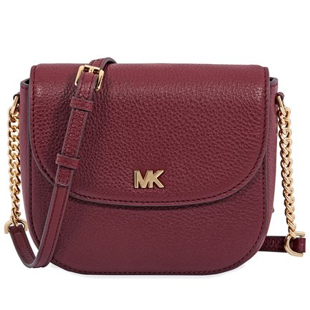 c82ac728dbe1 Michael Kors - Michael Kors Mott Pebbled Leather Dome Crossbody - Oxblood -  Walmart.com
