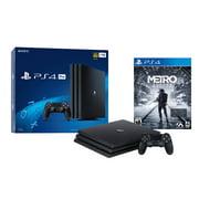 Sony PlayStation 4 PRO 1TB Console Metro Exodus Bundle - Black 4K HDR Ultra HD PS4 PRO Enhanced