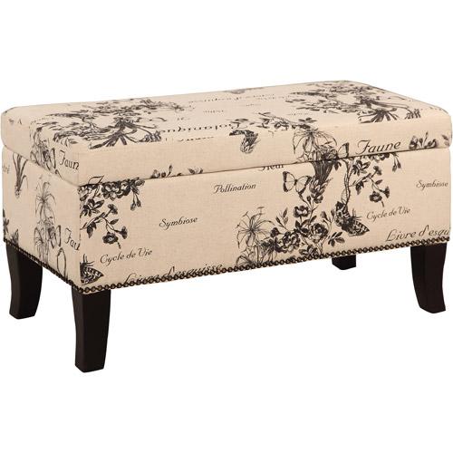 linon home decor stephanie linen ottoman multiple patterns - Linon Home Decor
