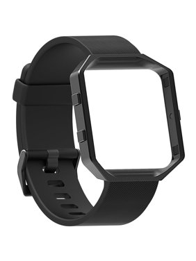 Product Image Replacement Silicone Strap Wrist Band + Stainless Frame for Fitbit Blaze Watch by EEEkit