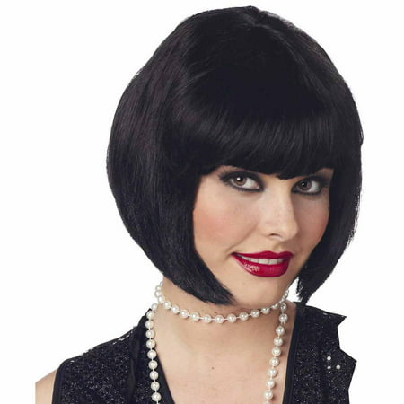 Black Flapper Wig Adult Halloween Accessory