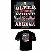 "Arizona Football ""I Bleed Red, White and Black, Go Arizona"" T-Shirt, Black"