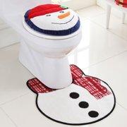 Vcny Snowman 2-piece Holiday Bath Rug Se