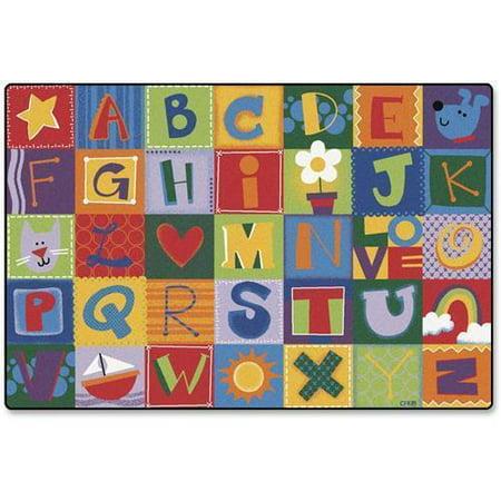 - 3801 Carpets for Kids Toddler Alphabet Blocks Rug - 72