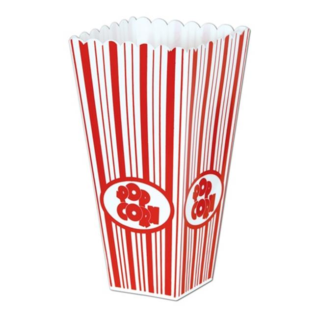 Beistle 57473 Plastic Popcorn Boxes - Pack of 6