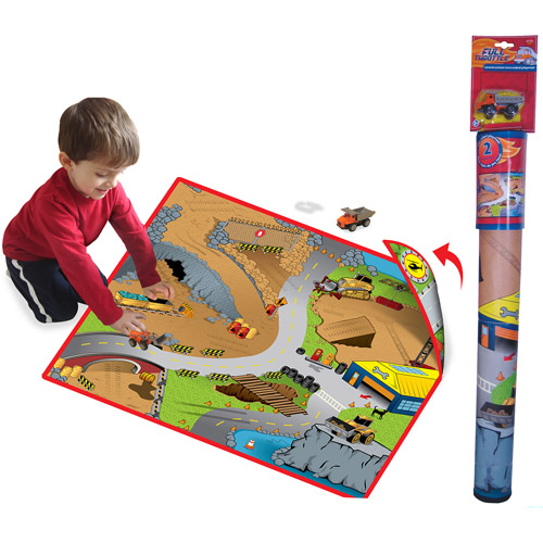 Neat-Oh! Full Throttle Construction Zone 2-Sided Play Mat
