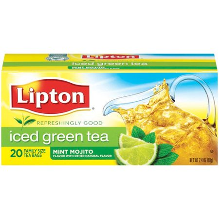 Lipton Mint Mojito Iced Green Tea Bags, 20ct - Walmart.com
