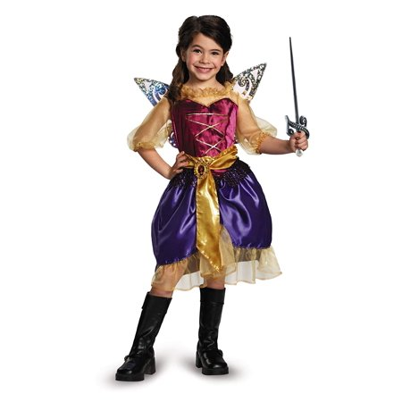 Disguise Disney's The Pirate Fairy Pirate Zarina Classic Girls Costume, X-Small/3T-4T for $<!---->