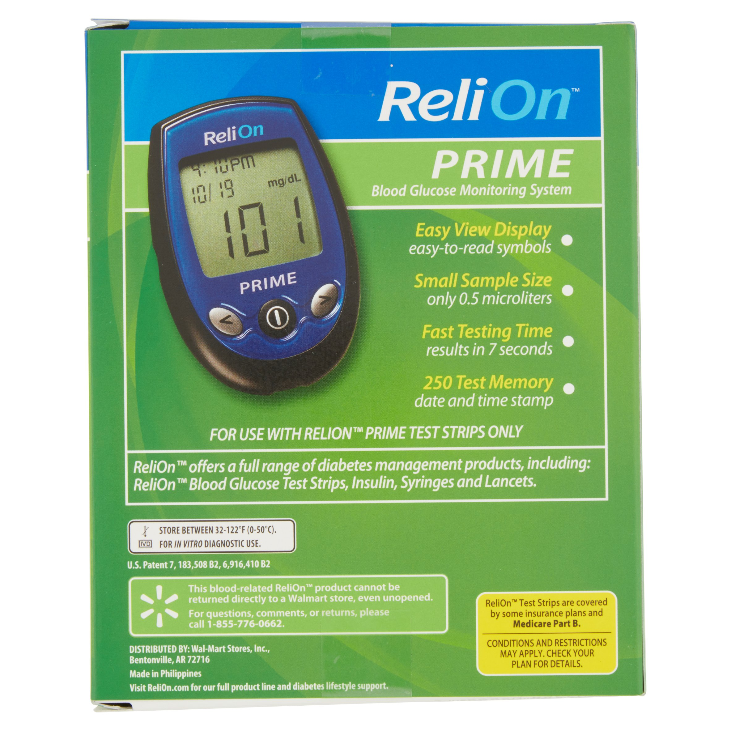 relion prime blood glucose monitoring system blue com