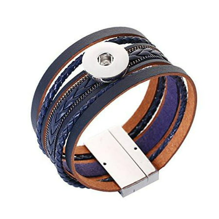 Sexy Sparkles Snap Button Jewelry Bangle Multilayer Bracelet fits 18mm/20mm Snap Buttons (Jewelry Snaps)