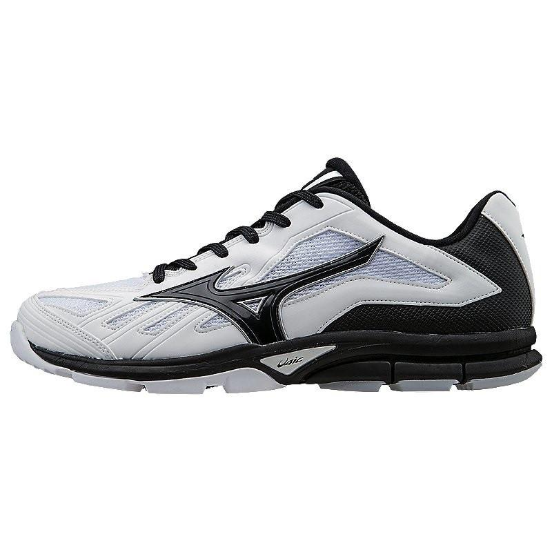 Mizuno Players Trainer Low White Black 12.5 by Mizuno