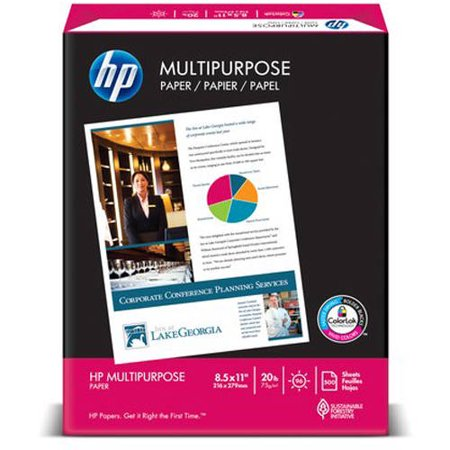 Hp Multipurpose 8 5  X 11  Paper  20 Lb