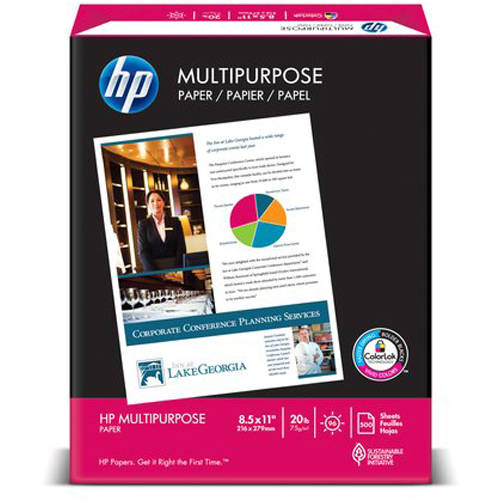 "HP Multipurpose 8.5"" x 11"" Paper, 20 lb"