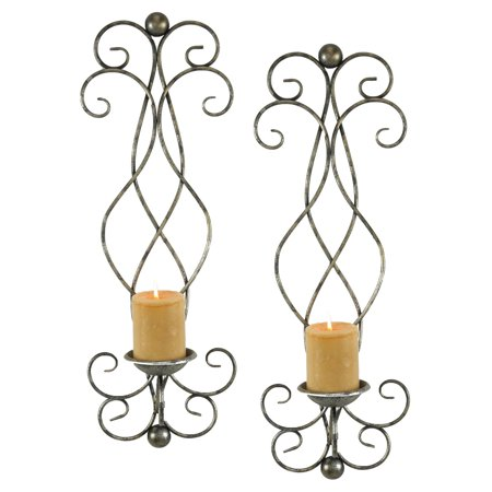Aspire Home Accents Estelle Candle Wall Sconce   Set Of 2