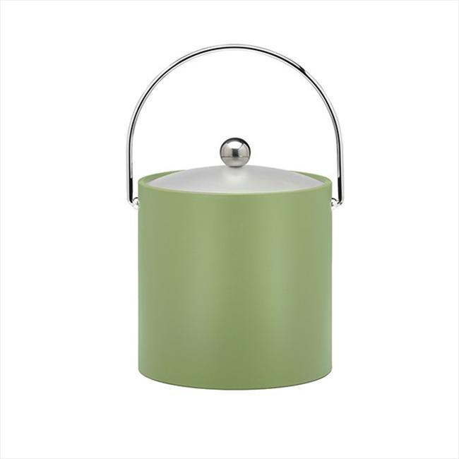 Kraftware 14666 avant J-sus-Christ Green Mist 3 Quart Seau-Chrome Bale Handle-Chrome plat Bouton-vinyle givr- Lid - image 1 de 1