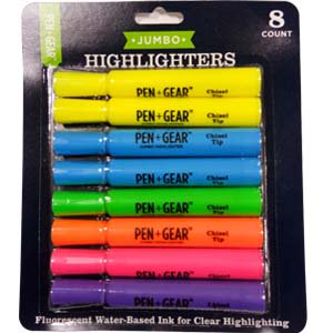 Pen + Gear 8ct Jumbo Highliter