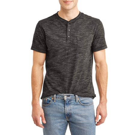 Lee Men's Short Sleeve Textured Henley with Pocket, Available up to size -