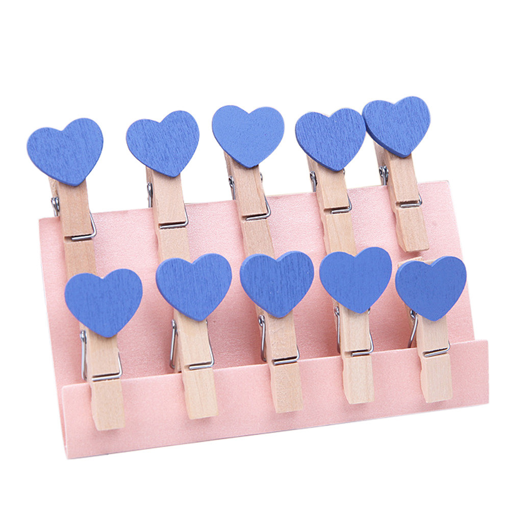 10 Pcs Clips Wall Deco DIY Creative Frame With Mini Colored Clothespins