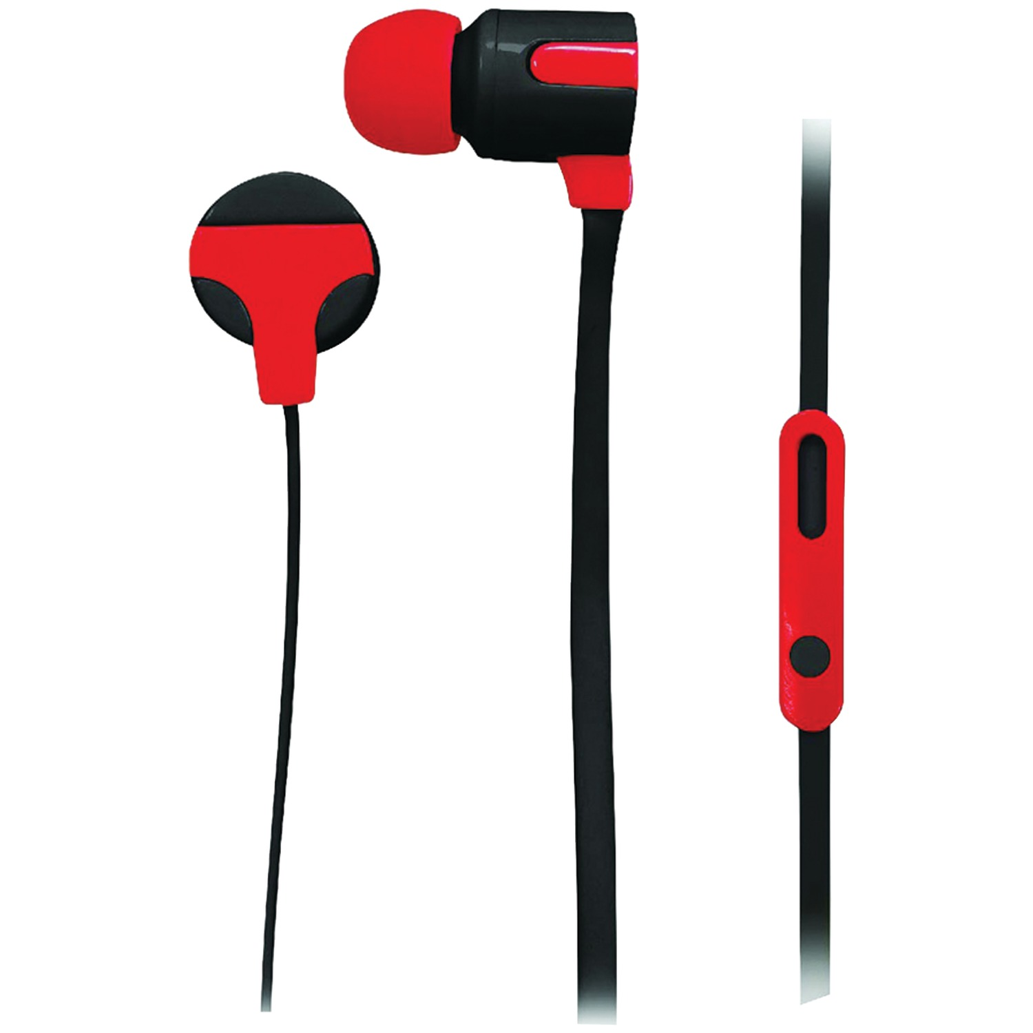 Naxa NE-939 RED ASTRA Isolation Stereo Earphones with Microphone (Red)