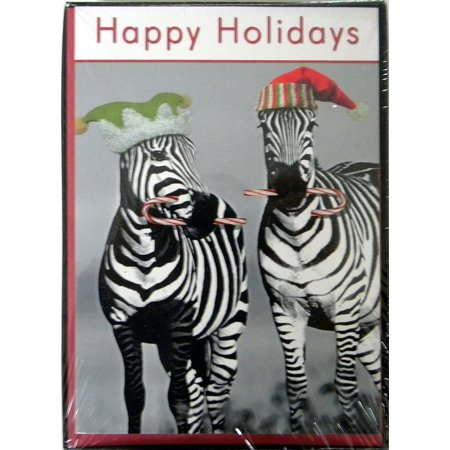 national geographic zebra christmas cards 18cnt inside verse have a sweet - National Geographic Christmas Cards