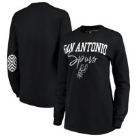 San Antonio Spurs Women's Elbow Patch Long Sleeve T-Shirt - Black