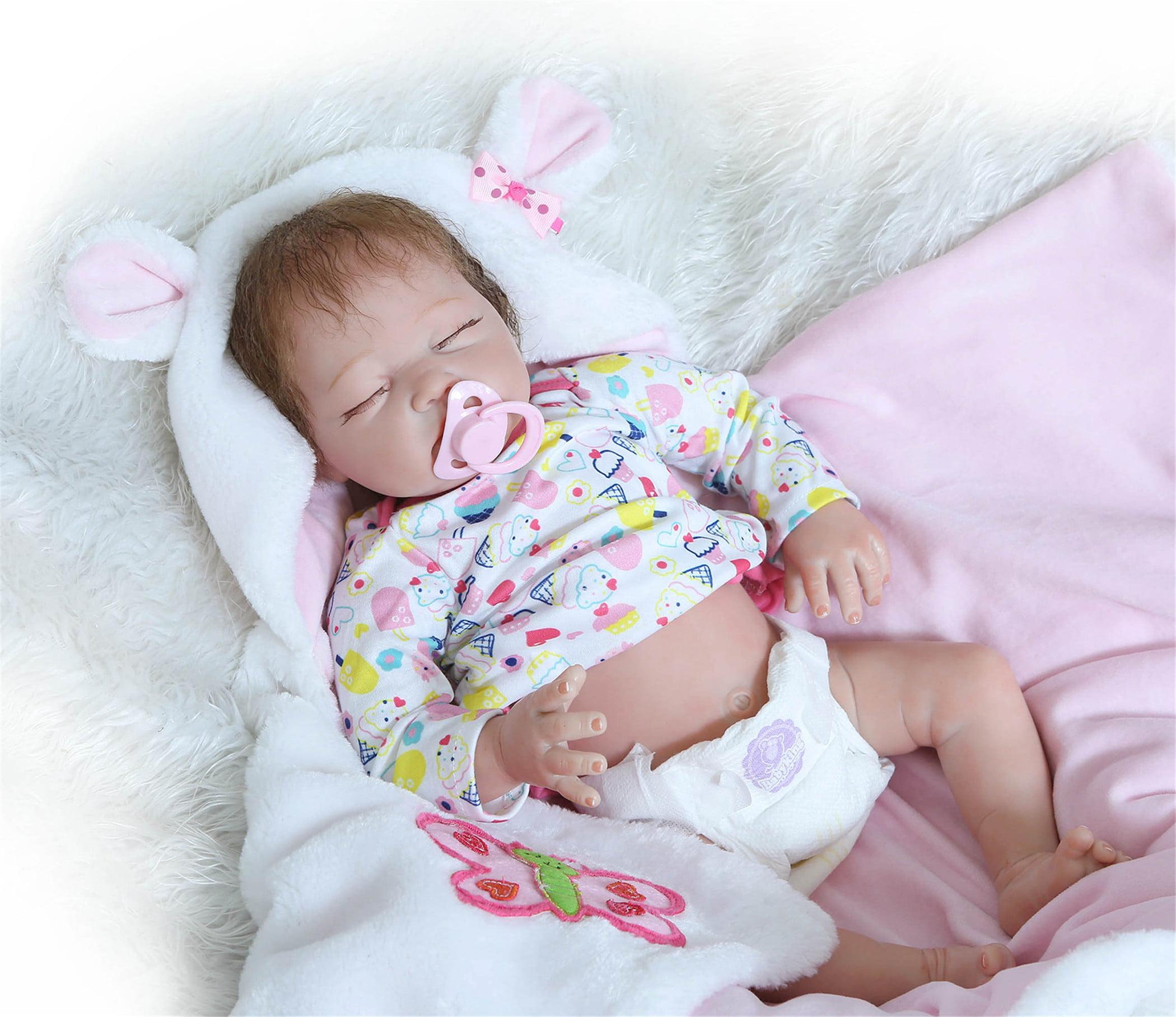 "20/"" Soft Vinyl Real Life Like Reborn Baby Dolls Silicone Newborn Dolls Xmas Gift"