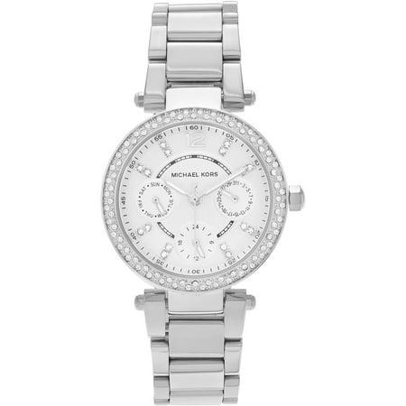 Michael Kors Women's Stainless Steel MK5615 Crystal Bezel Multi-Function Dress Watch, Link Bracelet