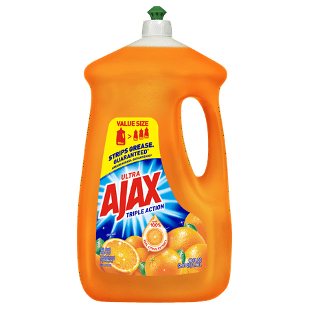 - Ajax Ultra Triple Action Liquid Dish Soap, Orange - 90 fl oz