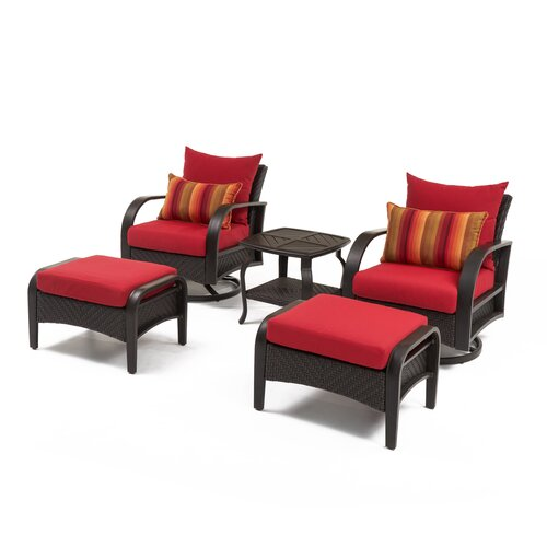 Sol 72 Outdoor Cerralvo 5 Piece Sunbrella Conversation Set with Cushions