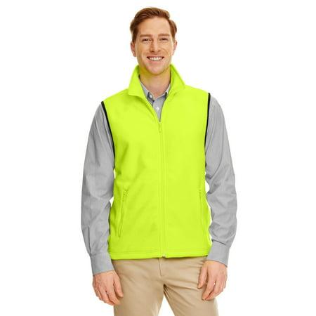 Fleece Print Vest - Harriton M985 Adult 8 oz. Fleece Vest