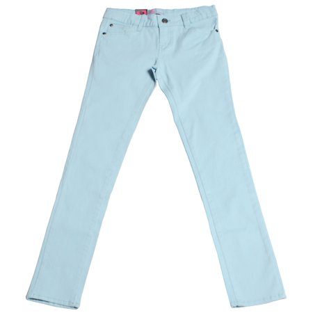 Hey Collection Big Girls Brushed Stretch Twill Skinny Jeans Aquamarine
