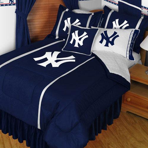 MLB New York Yankees Comforter Set NY Logo Baseball Bedding