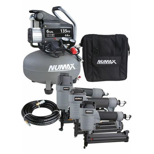 NuMax NM3P6GALCK 3-Piece Nailer and Compressor Ultimate F...