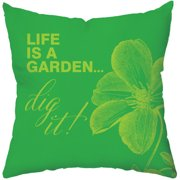 Checkerboard, Ltd Greenery Throw Pillow