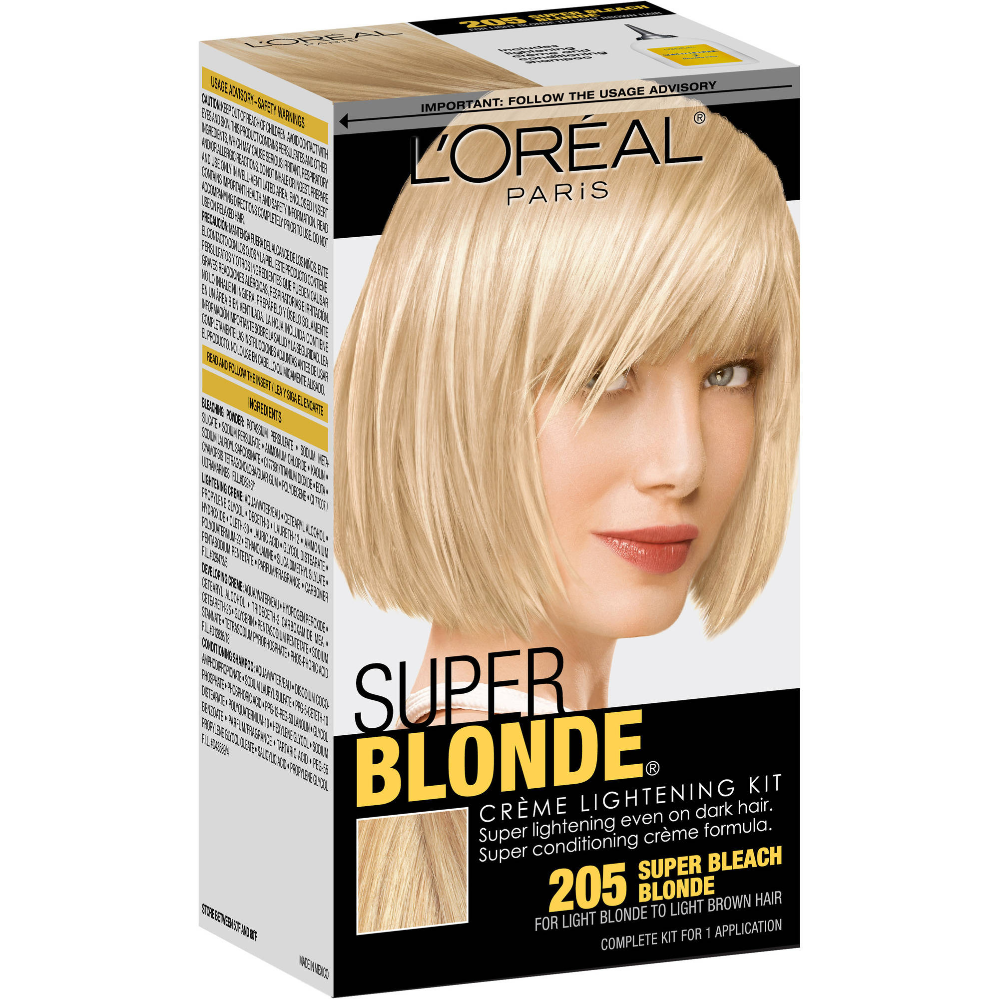 L Oreal Paris Super Blonde Creme Lightening Kit Super Bleach Blonde