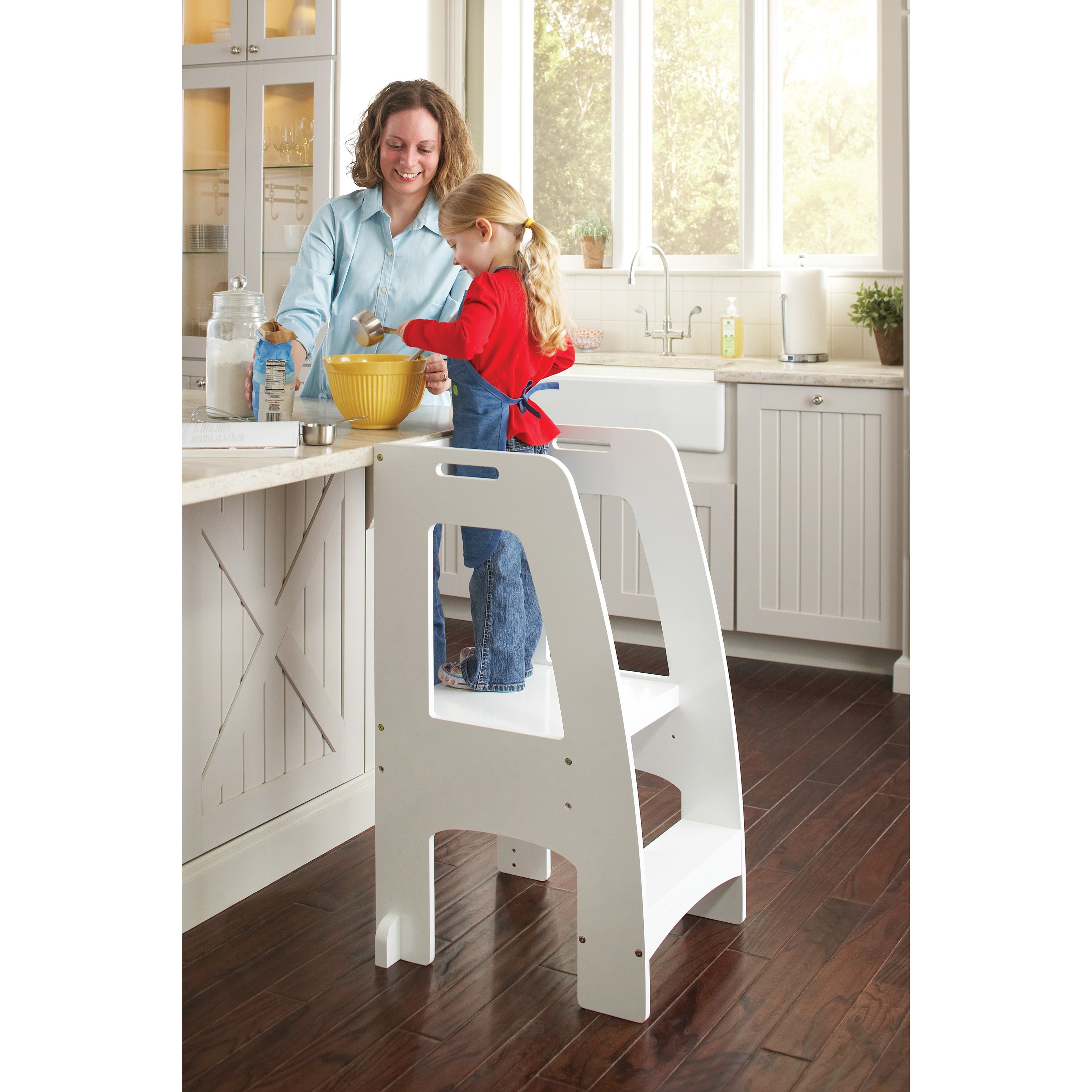 Guidecraft Step Up Kitchen Helper - White