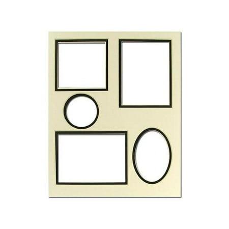 ADF Mat Dbl 8x10 Collage CrmCore Ivory/Black 5-Op