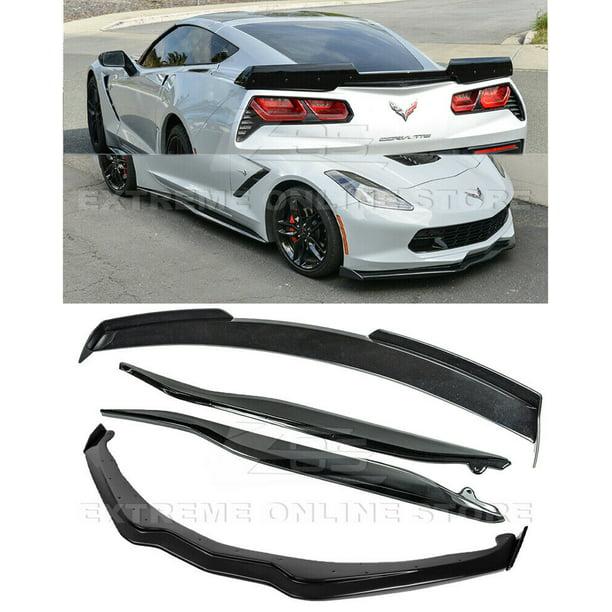 Replacement For 14 19 Corvette C7 Z06 Stage 2 Carbon Flash Front Lip Side Skirt Rear Spoiler Walmart Com Walmart Com