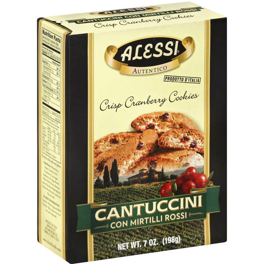 Alessi Cantuccini Cranberry Cookies, 7 oz, (Pack of 12)