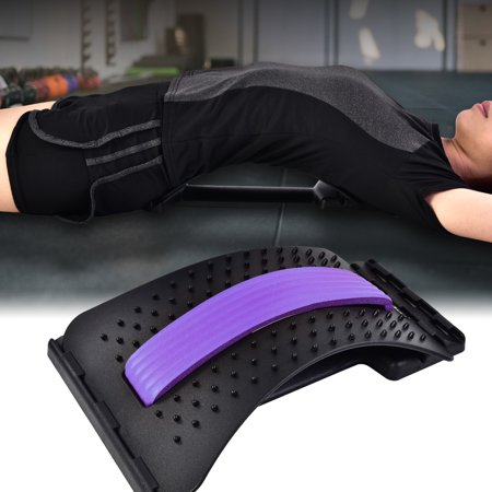 Dilwe Back Stretcher Lower Lumbar Muscle Massage Support Pain Relief Fitness Tool, Back Stretcher Pain Relief,Back (Best Inversion Table For Lower Back Pain)