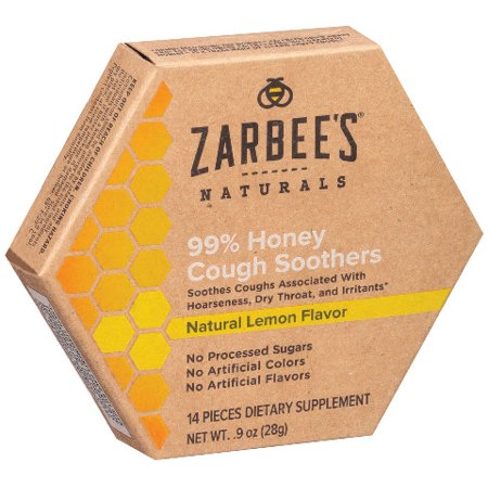Zarbee's Naturals 99% Honey Cough Soothers, Natural Lemon Flavor, 14 - Soother Spray