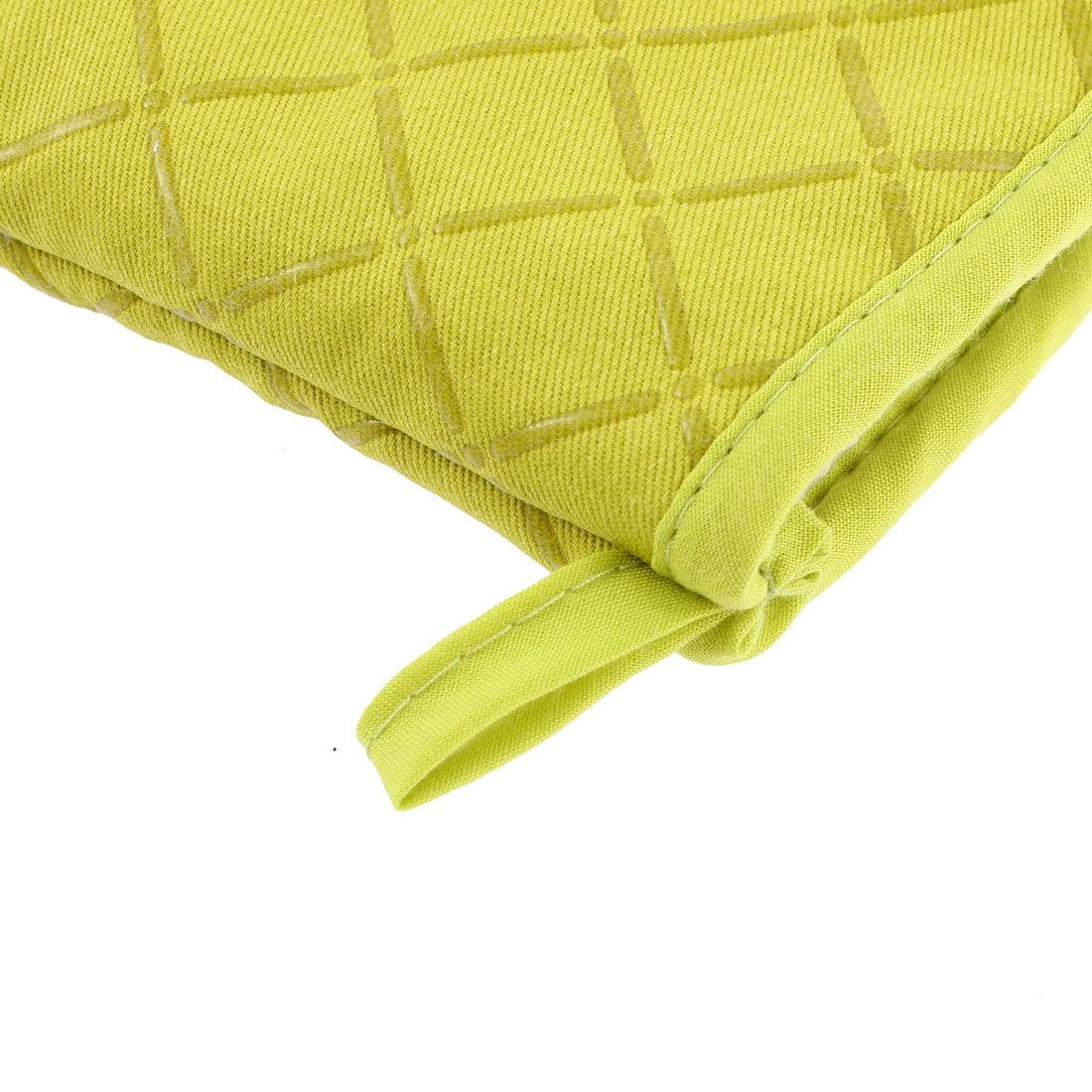 Kitchen Microwave Baking Cross Pattern Heat Resistance Mitten Glove Green - image 2 of 3